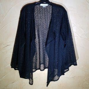 Caroline Rose Jackets & Coats - Caroline Rose Black Mesh Jacket XL